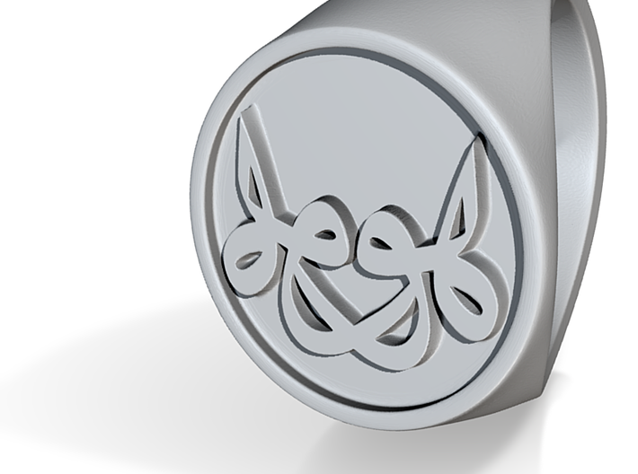 Signet Ring - He is He - unique - 3d printed