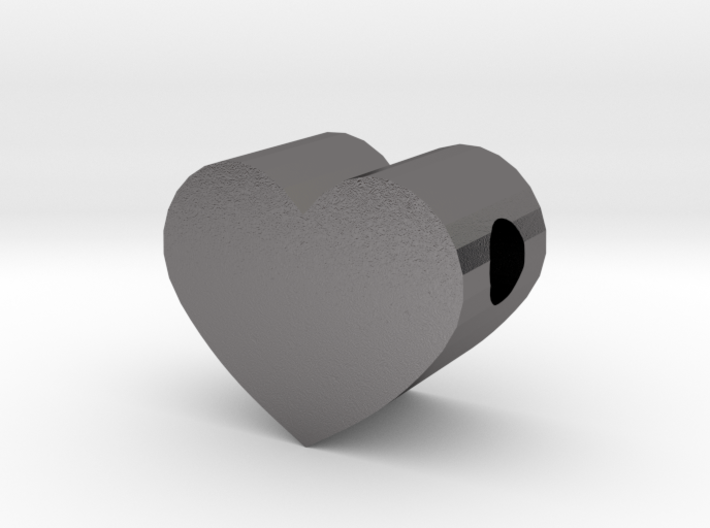 Small Simple Heart Slide Pendant - 1cm diameter 3d printed