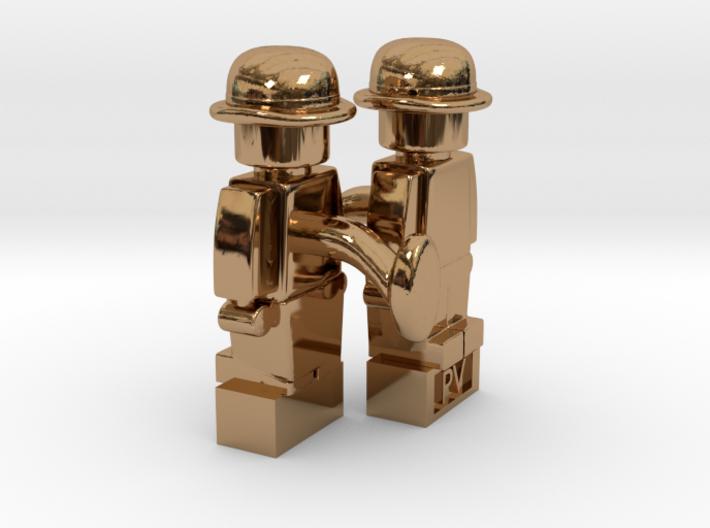 2 x Bowler Cufflinks 3d printed