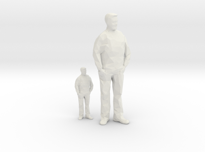 Architectural Man - 1:50 + 1:100 - Standing 3d printed