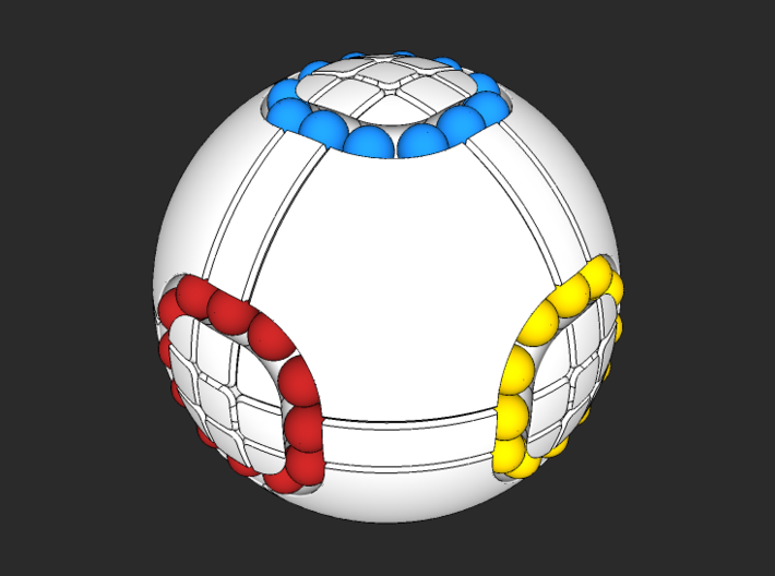 333 Orb 3d printed Solved puzzle