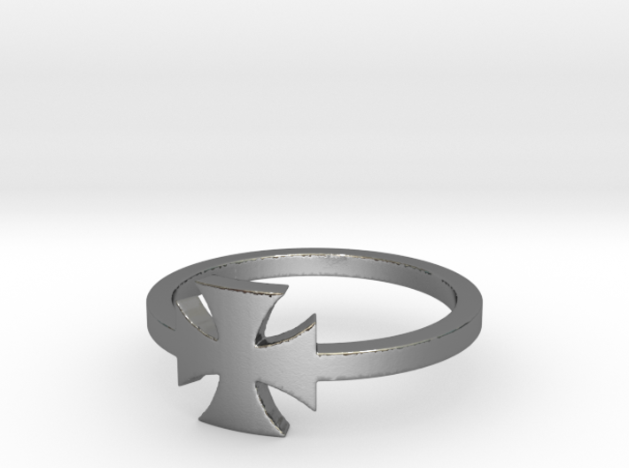 Outlaw Biker Iron Cross (small) Ring Size 13 3d printed