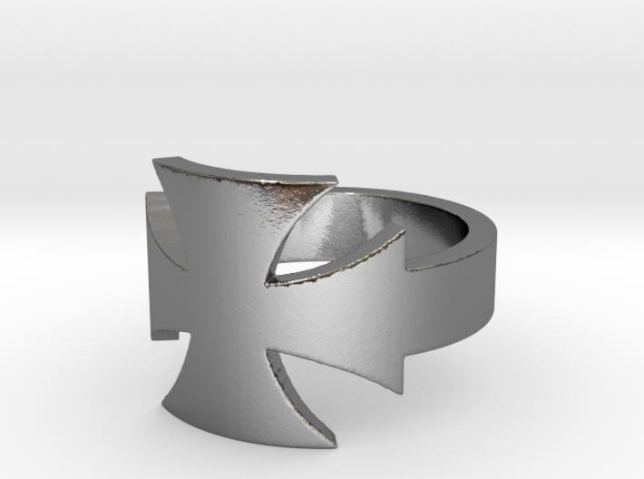 Outlaw Biker Iron Cross Ring Size 11 3d printed