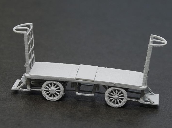 HO Scale (1/87) - Electric Baggage Cart 3d printed Primed FUD Print.