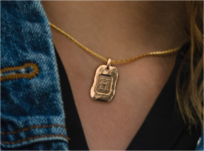 Old Gold Nugget Pendant Z 3d printed Nugget H of A-Z pendants