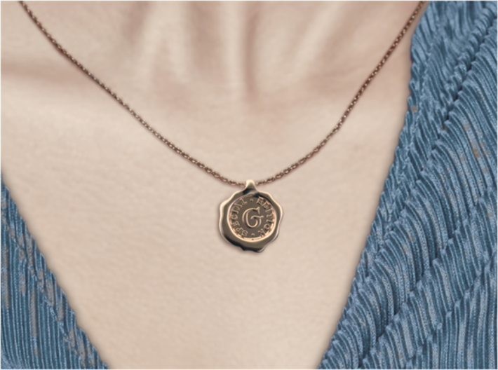 Seal Pendant M 3d printed Seal G of A-Z pendants