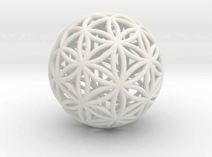 Special Edition 100mm Thick Flower Of Life 3d printed