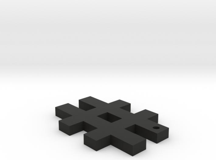 Hashtag Keychain 3d printed