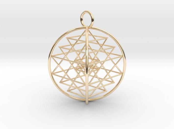3D Sri Yantra 4 Sided Symmetrical 3d printed