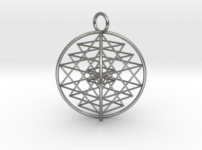 "3D Sri Yantra 4 Sided Symmetrical 2.2"" 3d printed"