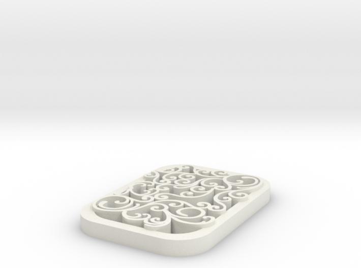 square swirl pendant 1 3d printed