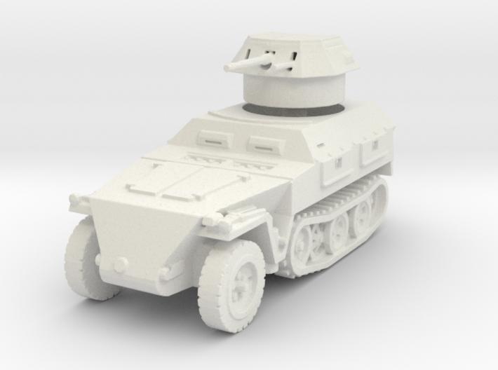 Sdkfz 250/9 B 2cm (closed) 1/100 3d printed