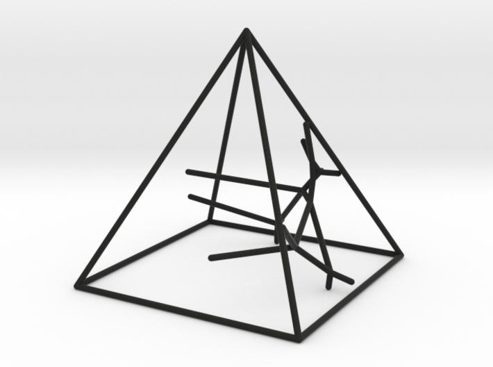 Naked Pyramid Sculpture 3d printed