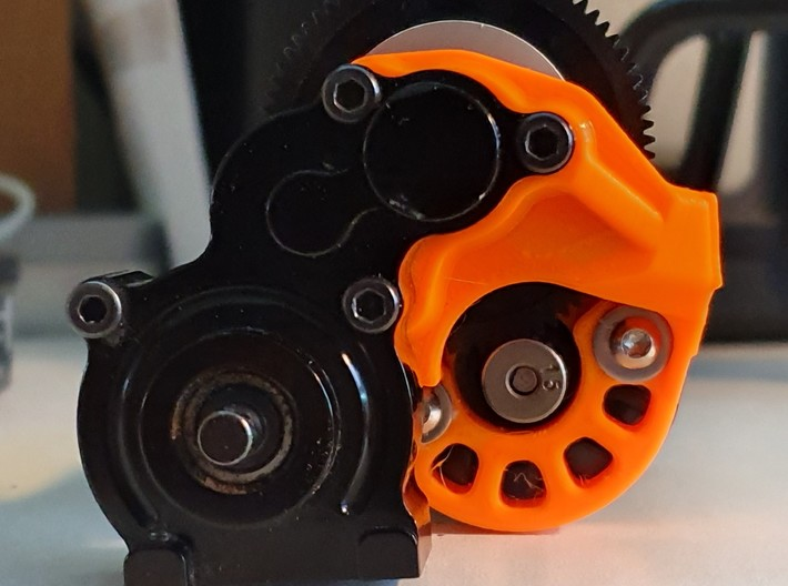 forward motor mount for Axial SCX10 1 trans 3d printed