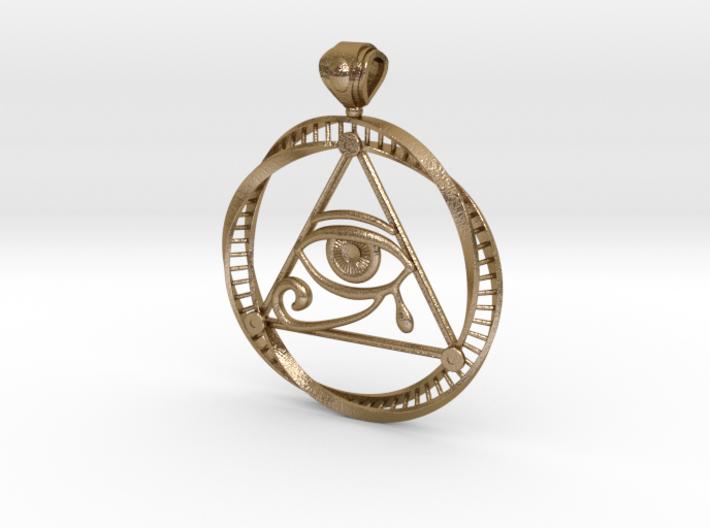 Eye of Ra DNA pendant 3d printed