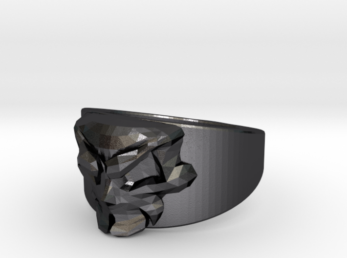 Skull Ring Size 10 3d printed