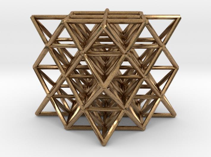 "64 Tetrahedron Grid small 1"" 3d printed"