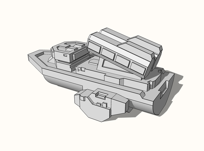 """Quarterback"" Class Missile Boat 6mm 3d printed"