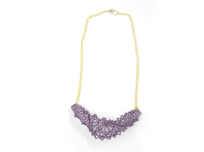 Arithmetic Necklace 3d printed Custom Dyed Nylon (Wisteria)