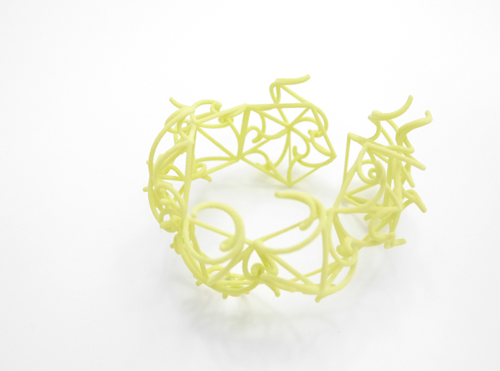 Aster Cuff 3d printed Custom Dyed Colors (Key Lime)