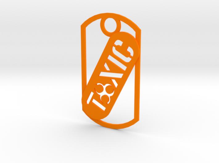 Toxic dog tag 3d printed