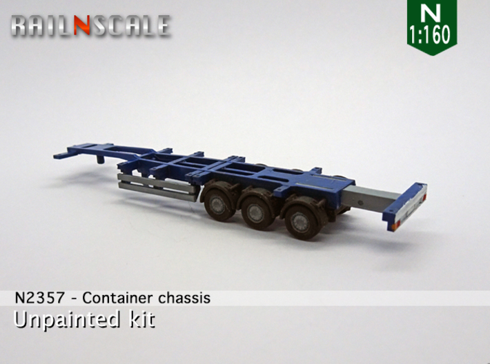 Container chassis (N 1:160) 3d printed