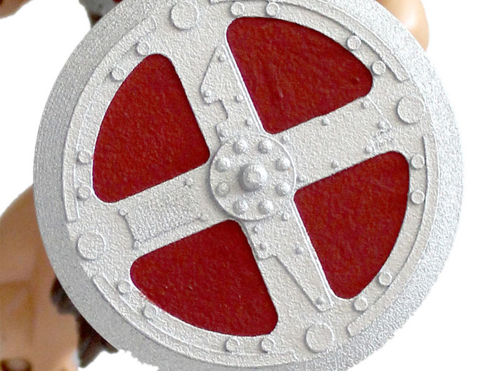 200x He-Man Shield 3d printed Painted prototype printed in White Strong & Flexible Polished