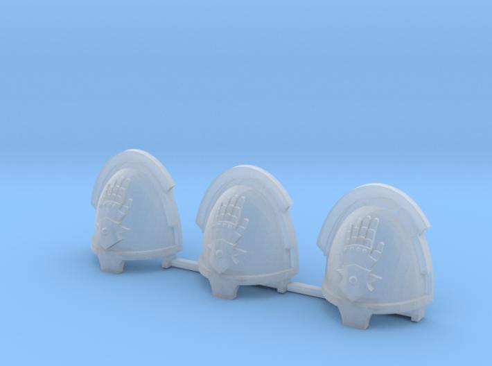 Steel Handed Warriors Bladeguards pads x3 L #2 3d printed