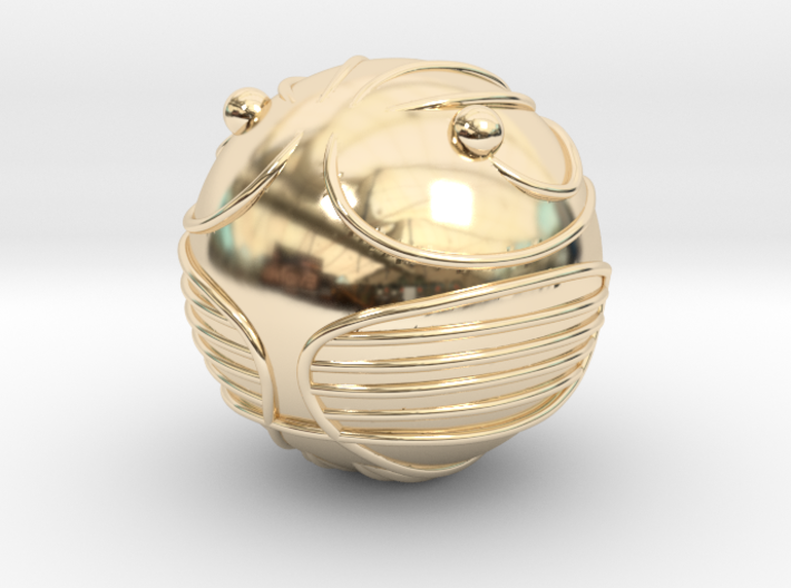 The Golden Snitch (14K GOLD) 3d printed