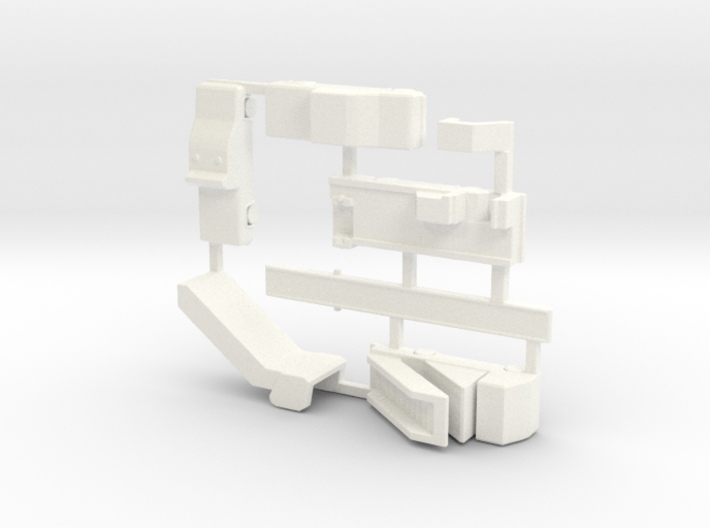 Airport GSE 1:400 Set 5 : Stair, Laugage Truck & D 3d printed