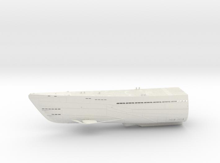 1/100 Uboot Hull Fore Part IXC U-505 3d printed