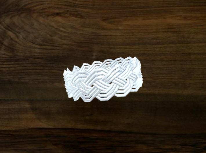 Turk's Head Knot Ring 4 Part X 15 Bight - Size 10. 3d printed