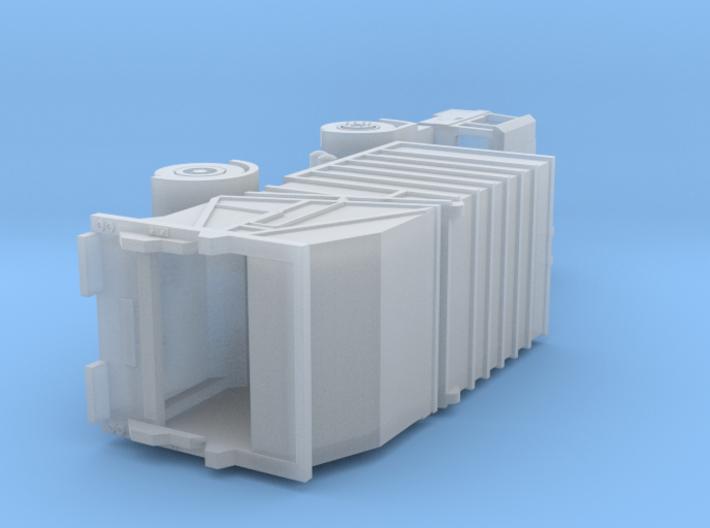Vuilniswagen schaal N / Garbage truck scale N 3d printed