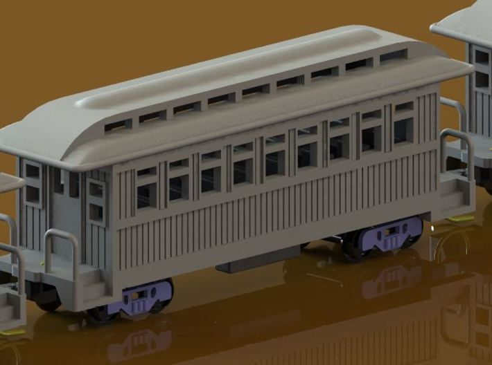 Z Scale Overton Passenger Cars 3d printed Coach