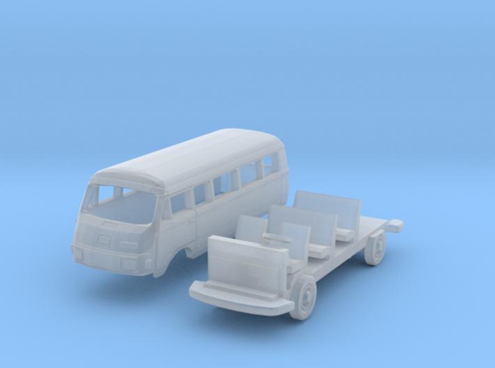Hanomag-Henschel F25 Kombiwagen Lang (N 1:160) 3d printed