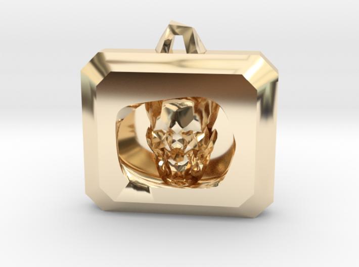 Crystal Skull Locket Pendant 3d printed