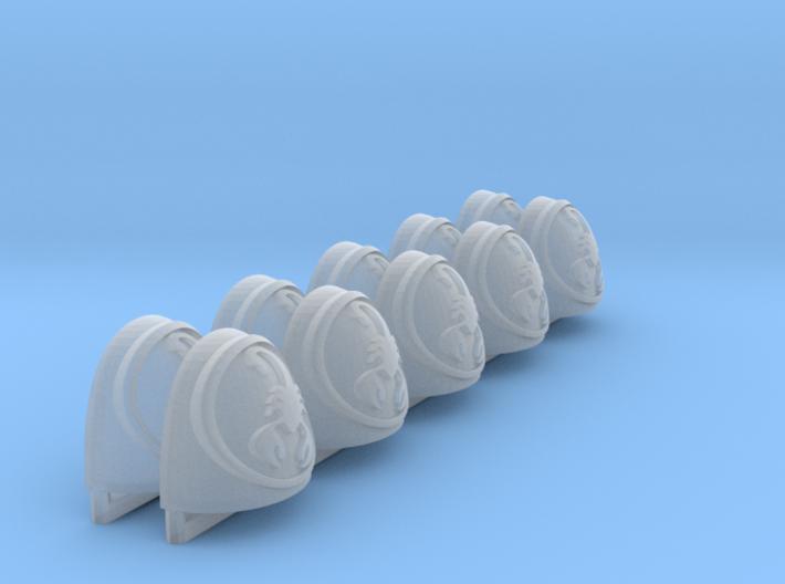 Coras ptrn Shoulder Pads: Scarlett Scorpions 3d printed