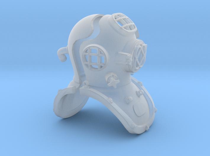 12th scale diving helmet 3d printed