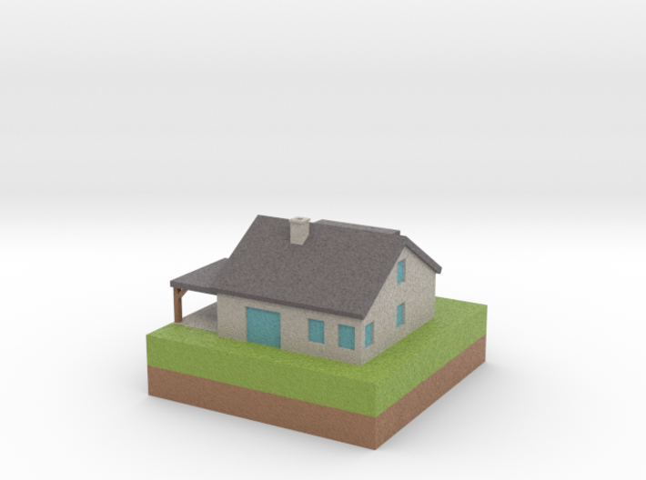 House 001 3d printed
