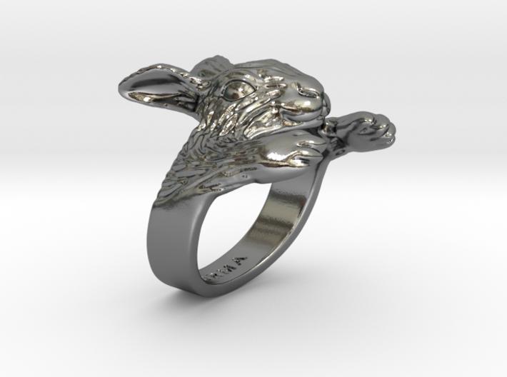 Rabbit Hug Ring 3d printed