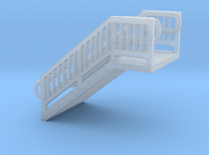 N Scale Steel Station Stairs H12.5W12.5mm 3d printed