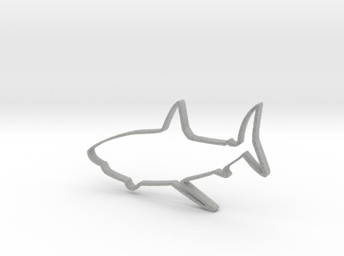 Shark Outline Necklace Pendant 3d printed