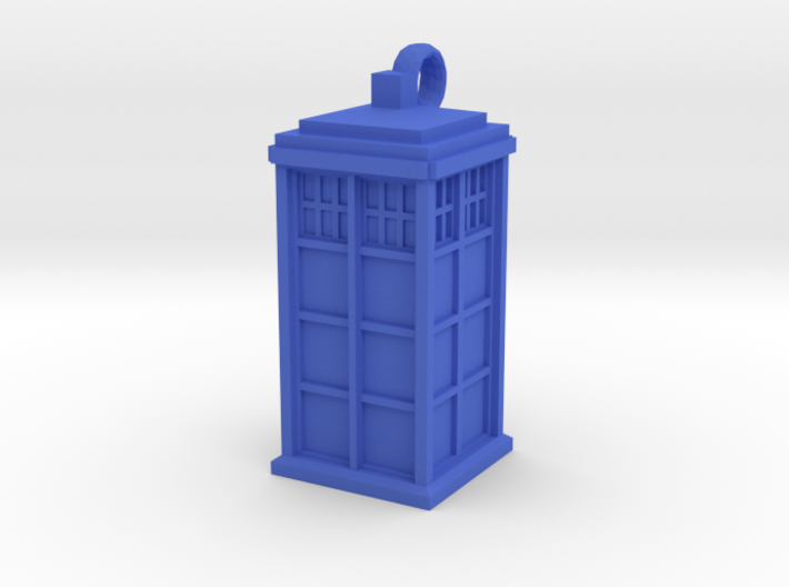 Tardis (T.A.R.D.I.S.) necklace charm 3d printed