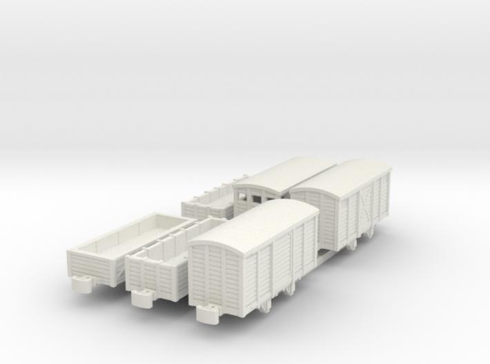 Six Freight cars (Nm/Nn3) 3d printed