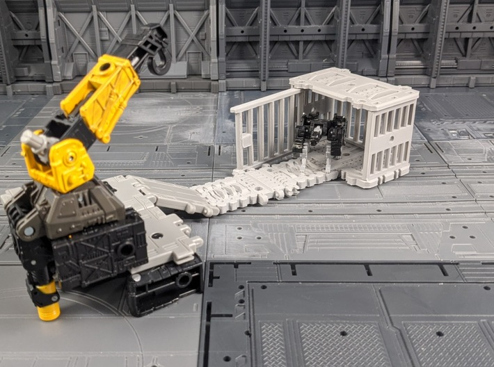 TF Seige Ravage Cage Kit 3d printed Compatible with war for cybertron ramps