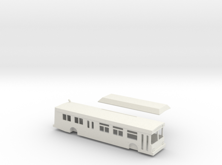 HO scale 1:87 New Flyer C40lf city bus (CNG) 3d printed