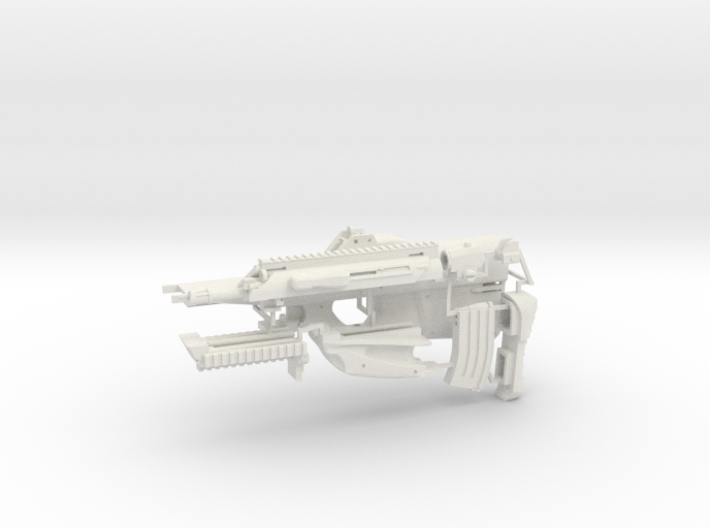 1:6 scale bullpup rifle 2 3d printed