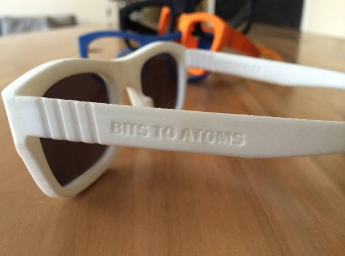 71914 FLEX Sunglasses Frames by Bits to Atoms 3d printed living hinge detail