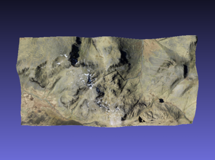 Scafell Pike - Photo 3d printed Surface of Scafell Pike - Photo model
