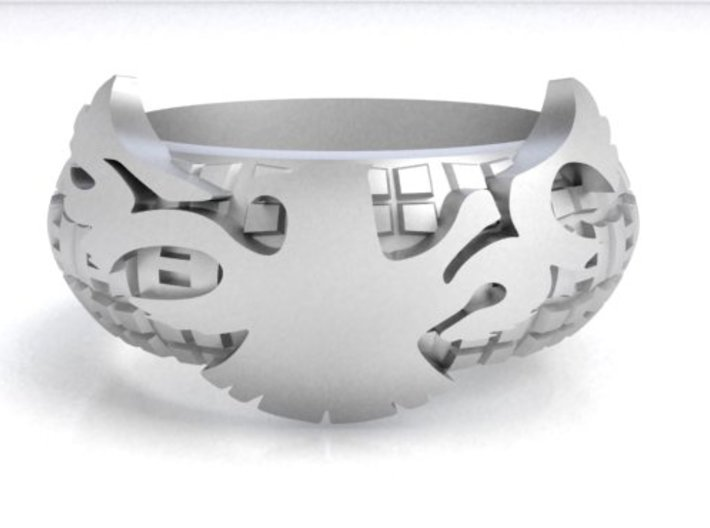 50505BMX EVEN BAND Ring SIZE10.5 3d printed